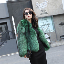 Buy FURSARCAR Real Fox Fur Coat Fashion Style Genuine Leather Full plet Natural Fox Fur Luxury Full Sleeve Green Short Fur Coat for $856.00 in AliExpress store
