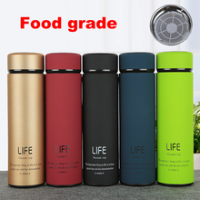 500 ml Thermos tea mug with Strainer Thermo mug Thermos Coffee cup Stainless steel thermal bottle Termos Thermocup Vacuum flask(China)
