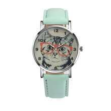 Newest trendy women watches Mini Cat Pattern Leather Band Analog Quartz Vogue Wrist Watch super quality relogios femininos #A