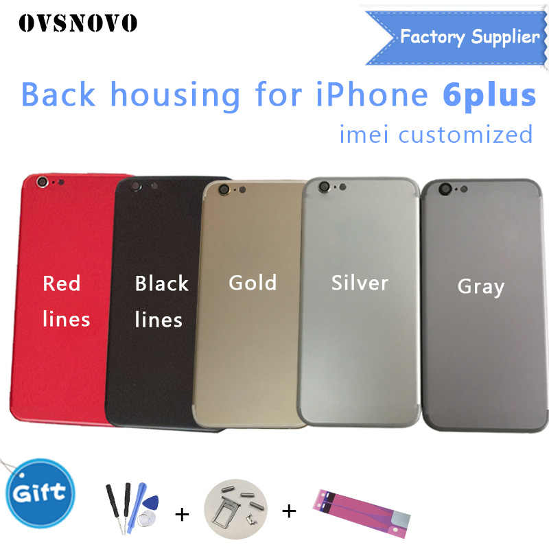 155e2435dff Chassis Back Housing Battery Cover Coque Fundas for iPhone 6 Plus A1522  A1524 Middle Frame +