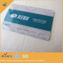 plastic pvc material black high-co magnetic strip panel silver number embossed membership card(China)