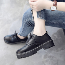 Buy British Style Women Flats Oxford Shoes Girl Spring Soft Leather Casual Shoes Lace Womens Shoes Retro Brogues Flat Shoe for $14.03 in AliExpress store