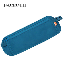 PACGOTH Personal Invisible Nylon Waist Pack Belt Multi-Functions Waist Bag Causal Unisex Card Money Holder 34x13cm 1 PC