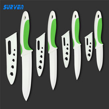 "SURVEN Kitchen Ceramic Knife  3"" 4"" 5"" 6"" inch White Blade Paring Fruit Cooking Knife Kitchen Chef Knives"