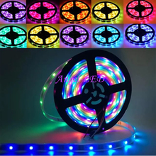 best price 2*5M DC5V ws2812b 150LED ws2811 IC built-in Individually Addressable NonWaterproof 5050RGB Dream Color LED Strip 10m(China)