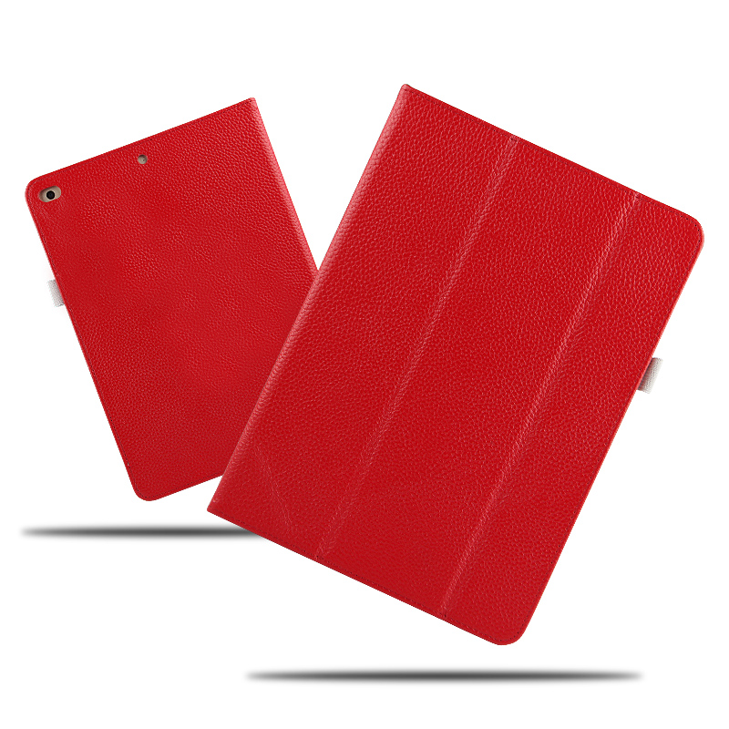 High Quality Genuine Leather Manget Smart Sleep Stand Cover Real Leather Funda Case For Apple iPad 9.7 2017 Generation Tablet<br>