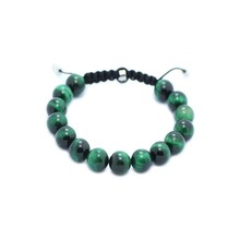 Shamballa Jewelry Green Tiger Eye Bracelets For Women/Men Shamballa Bracelets 10mm Bead Shamballa Bracelet Pulseiras Masculinos