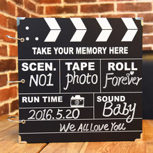 DIY Gallery Polaroid manual paste type phase thin baby growing album lovers album this gift(China)