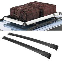 Partol Black Aircraft Aluminum Car Roof Rack Cross Bars 132LBS/60KG For Honda Odyssey 2005 2006 2007 2008 2009 2010