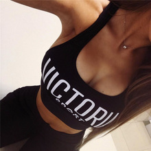Buy BKLD Fashion Casual Summer Sexy Camis Sleeveless Camisole Bralet Bustier Letter Printed Crop Tops Exercise Workout Vest Tank Top for $7.67 in AliExpress store