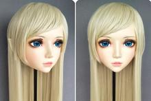 (XiaoEr03)Female Sweet Girl Resin Half Head Kigurumi BJD Eyes Crossdress Cosplay Japanese Anime Role Lolita Mask With Fairy Ear(China)