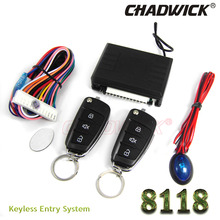 2017 New universal keyless entry system flip key remote central lock locking system CHADWICK 8118 FOR KIA car alarm remote fold(China)