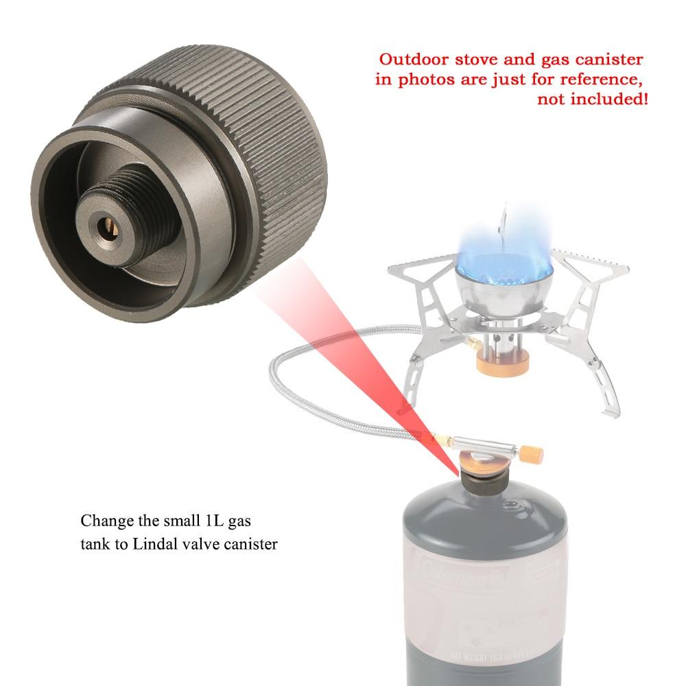 Nai-style Tanque de Gas al Aire Libre Convierte Mini Estufa Conector Redondo Estufa Que acampa y Dispositivo Tanque de Gas Adaptador Conectar