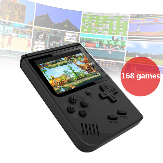 USB Charge Retro Pocket Handheld Game Console 168 Classic Games Support TV Output Video Game Player Birthday Gift For Kids