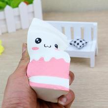 Kawaii Cute Soft Squishy Charms Milk Bag Toy Slow Rising for Children Adults Relieves Stress Anxiety Cabinet Decor Novelty Toys