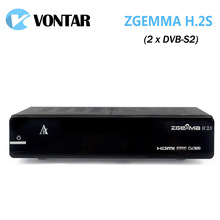 [Genuine] ZGEMMA H.2S Satellite TV Box Receiver Twin DVB S2 Tuner Enigma2 Linux OS 2000DMIPS CPU Processor BCM7362 Set Top Box