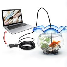 Worldwide 5M 6 LED USB Waterproof Endoscope Borescope Snake Inspection Video Camera 7mm For Windows 2000 / XP / Vista / 7
