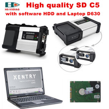 Car tester mb star c5 sd c5+laptop+with DTS Software HDD auto diagnostic scanner profesional for mercedes benz DHL Free Shipping(China)