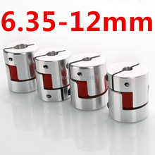 6.35 mm to 12 mm CNC Motor Jaw Shaft Coupler  Flexible Coupling OD 25x30mm  Coupling Spider Flexible shaft coupling 6.35mm 12mm