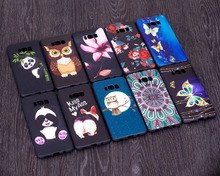 Anaglyph TPU phone case for Samsung  panda and bamboo, water lily, butterfly,datura,owl,popular cartoon phone case