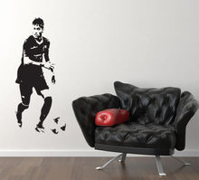 os1632 2016 new kids room Neymar Da Silva Footballer Barcelona Bedroom Decal Wall Art Sticker free shipping