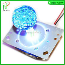 Arcade LED Joystick with Crystal Babble ball top 7colors Illuminated LED Joystick with 8 way 4 way restrictor for fish joystick