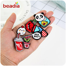 Fashion Cartoon Acrylic Pin Badge Clothes Badges Backpack Beautify Icons Bear Plan Smile Pandan Cartoon Package Icon