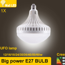 Big power bulb 12w 16w 24w 30w 36w  50w 60w LED bulb E27 LED lamp space ship style Warm/white 5730 UFO LED quality