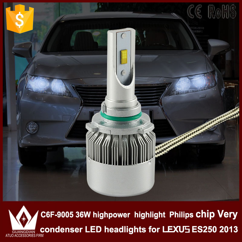 Guang Dian car led light 9005 Headlight Head lamp high power High beam C6F 6000K white for  lexus ES250 2013 only<br><br>Aliexpress