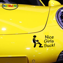 HotMeiNi Nice Girls Suck Beauty Oral Sex Funny Humor Car Sticker Window Bumper Motorcycle Family Car Decor Vinyl Decal 9 Colors(China)