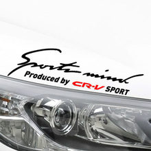 Customization Sports Mind On Car Lamp Eyebrow Sticker Car-Styling For honda crv car accessories