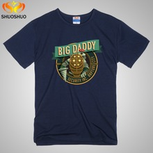 Custom Tee Shirts Near Me Big Daddy Bioshock Rapture Elizabeth Video Game Inspired New Mens ummer Tops Casuals Shirts