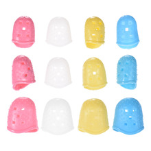 12pcs Guitar Fingertip Protectors Silicone Finger Guards for Ukulele Electric/Acoustic Guitar Bass 4 Colors(China)