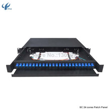 19 inch 24 port patch panel and ODF fiber optic distribution with full SC adaptor and tray(China)