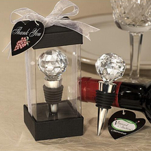 Hot sell vineyard collection crystal wine bottle stopper wedding favors 50 PCS free shipping(China)