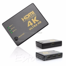 1080P 4Kx2K 3 in 1 Out HDMI Switch Hub Splitter TV Switcher Ultra HD For HDTV PC -R179 Drop Shipping