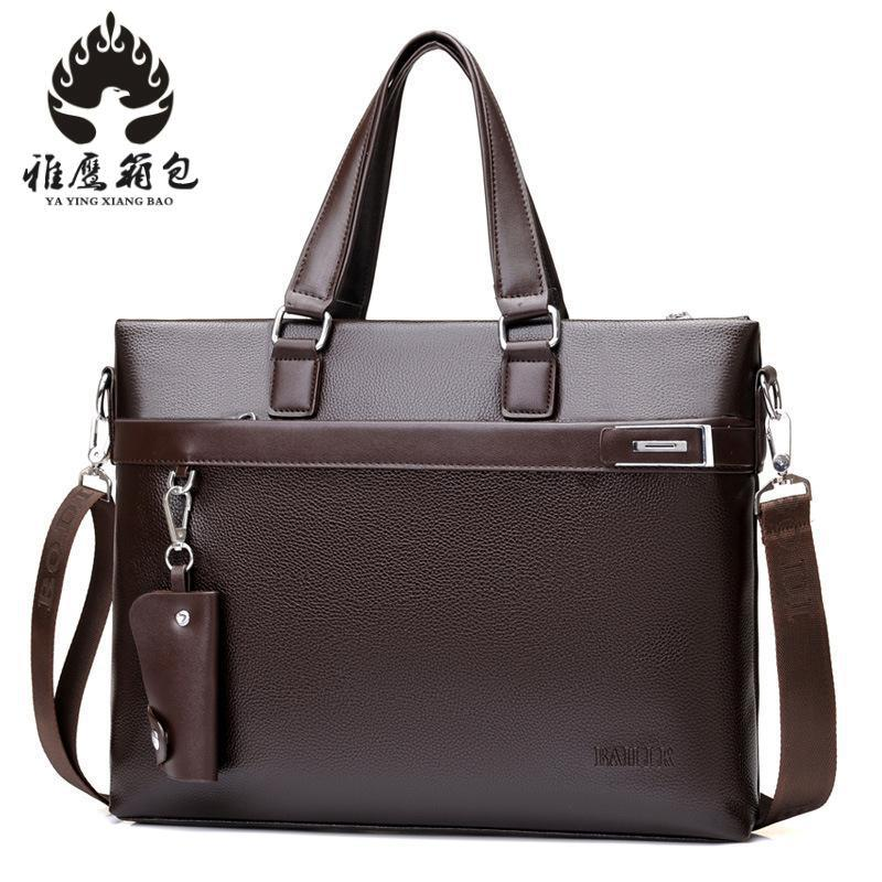 2018 New Luxury Brand Pu Leather Men Handbag Classic Designer Man Crossbody Shoulder Bag Casual Messenger Bag A4 Briefcase<br>