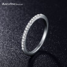 ANFASNI Simple Design Delicate Gift SWA Stellux Women Rings Austrian Crystal Ring Fahion Jewelry CRI0117