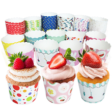 50pcs /lot different designs colorful in random  cupcake liner baking cup cupcake paper muffin case