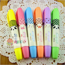 1PC/lot Fresh look and cute animals design highlighter pen With Fragrance,fluorescent pen (SS-5943)
