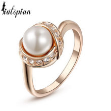 Iutopian Brand Elegant Ring For Women With Top Quality Simulated Pearl Gift For Girlfriend#RG93137(China)