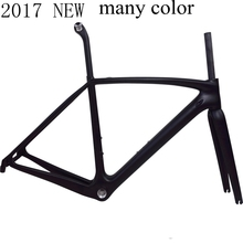 2017 NEW T1000 UD full road carbon bike frame racing bicycle frameset Accept custom color size 49-58cm taiwan tar bike FM06