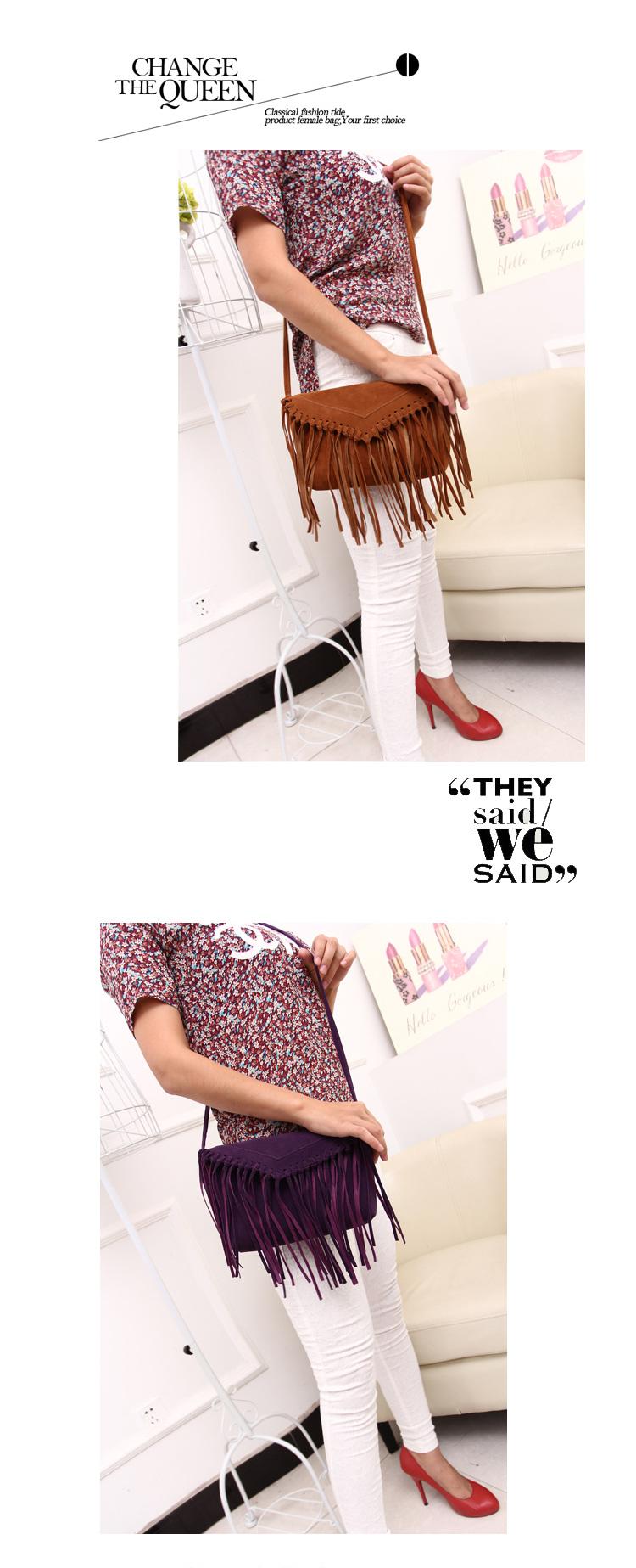 women bag fringe tassel bags (7)