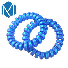 MISM 1 Pair Shiny Women Telephone Wire Line Cord Ponytail Holders Female Hair Scrunchy Girl's Hair Ring Simple Gum Elastic Band