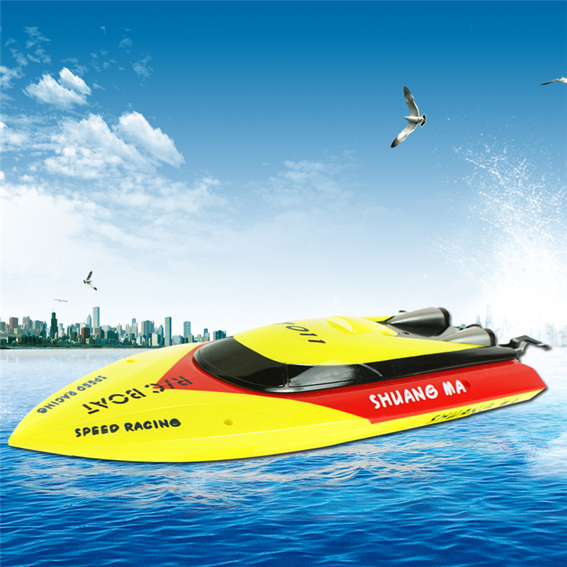 Hot Exclusive 7011 RC Boat High Speed 30KM/H 2CH 2.4G Remote Control Boat Water Cooling System vs F16610 FT010<br><br>Aliexpress