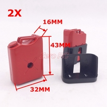 1 PAIR 1/10 Scale Decorative RED Mini Fuel Tank For Rc Crawler Truck D90 Axial Wraith SCX10 TF2 CC01