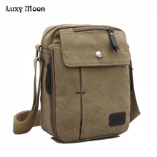 Charm canvas bags 2015 men's travel bag canvas men messenger bag brand mini size men's bag luxary vintage style briefcase w304(China)