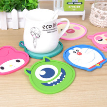 High Quality 1pcs Cute Cartoon Anime Silicone Cup Mat Coffee Placemat Drink Coaster Cup Glass Beverage Holder Pads Mats KP030
