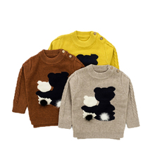 Children Sweaters New Brand Fall Winter Cartoon Bear Baby Boys Girls Pullovers Toddlers Knit Sweater Infant Kids Child Clothing(China)