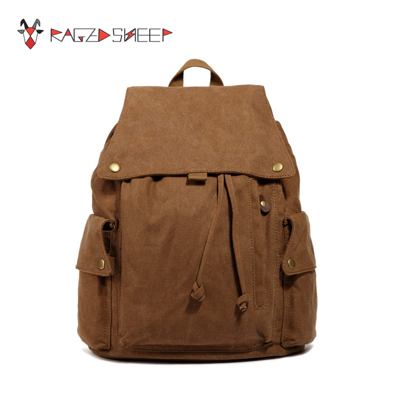 Raged Sheep Women Canvas Vintage Backpack Girls Student School  Drawstring Backpack Teenagers Girls Small Travel Bags <br>